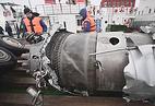 Обломки самолета Ту-154 Минобороны РФ