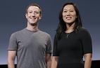 Основатель Facebook Марк Цукерберг с женой Присциллой Чан