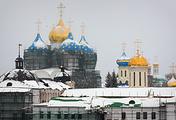 Вид на Свято-Троицкую Сергиеву лавру