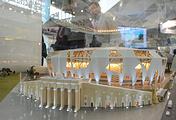 """Макет реконструкции Центрального стадиона к чемпионату мира 2018 на V Международной промышленной выставке """"Иннопром-2014"""""""