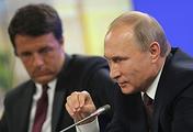 Премьер-министр Италии Маттео Ренци и президент РФ Владимир Путин