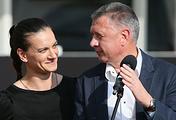 Елена Исинбаева и Дмитрий Шляхтин