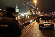 На месте убийства Бориса Немцова, 28 февраля 2015 года