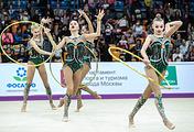 Сборная России в групповых упражнениях с обручем