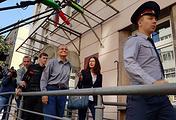 Бывший глава Минэкономразвития РФ Алексей Улюкаев (в центре)