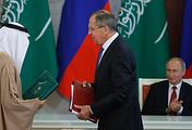 Министр иностранных дел РФ Сергей Лавров и президент РФ Владимир Путин