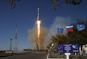 Пуск ракеты-носителя «Союз-2.1а» и транспортного грузового корабля «Прогресс МС-07»  с космодрома Байконур