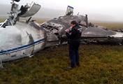 На месте крушения самолета Falcon в аэропорту Внуково, 2014 год