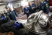 Сотрудники пожарной части №12 в Москве