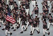 Сборная США на церемонии открытия зимних Олимпийских игр 2014 года в Сочи