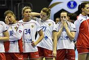 Гандболистки сборной России после поражения в 1/4 финала чемпионата мира 2017 года