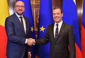 Премьер-министр Бельгии Шарль Мишель и премьер-министр РФ Дмитрий Медведев