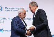 Главы МИД Ирана и России Мохаммад Джавад Зариф и Сергей Лавров