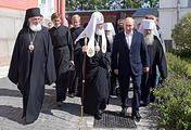 Патриарх Московский и всея Руси Кирилл и президент РФ Владимир Путин