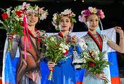Александра Трусова, Алена Косторная и Алена Канышева