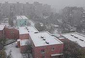 Снегопады в Мурманске начались еще месяц назад
