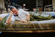"Ларс фон Триер на съемочной площадке фильма ""Догвилль"", 2002 год"
