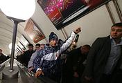 Во время эстафеты.  Фото ИТАР-ТАСС/ Михаил Метцель