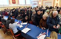 Во время голосования в Белоруссии