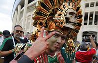 Мексиканский болельщик в Москве на матче между сборной Мексики и командой Германии