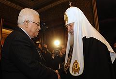 Президент Палестины Махмуд Аббас и патриарх Московский и всея Руси Кирилл