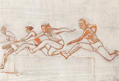 """Александр Дейнека """"Бег с препятствиями"""", 1958 год"""