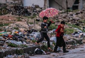 Дети на одной из улиц в районе Салах Ад-Дин