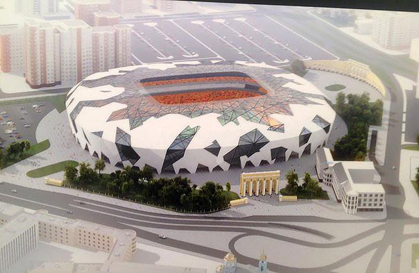 Один из вариантов макета Центрального стадиона Екатеринбурга к ЧМ-2018 по футболу в России