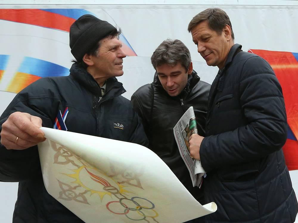 Президент Олимпийского комитета России Александр Жуков (справа) во время церемонии открытия