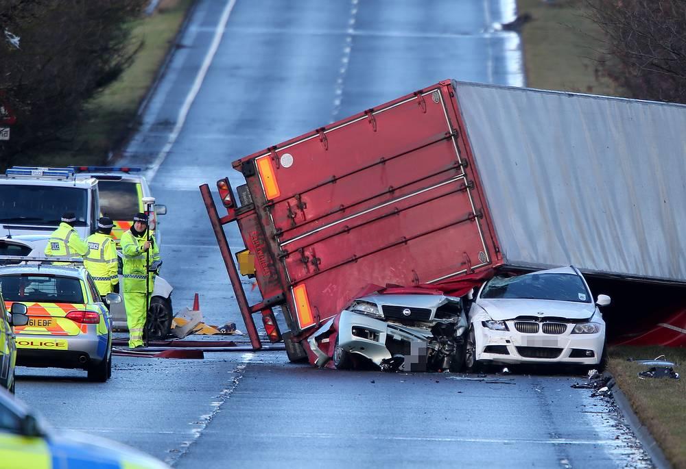 Шотландия, шоссе А801, 5 декабря 2013