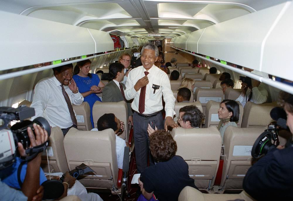Возвращение Нельсона Манделы из Вашингтона, 1990 г.