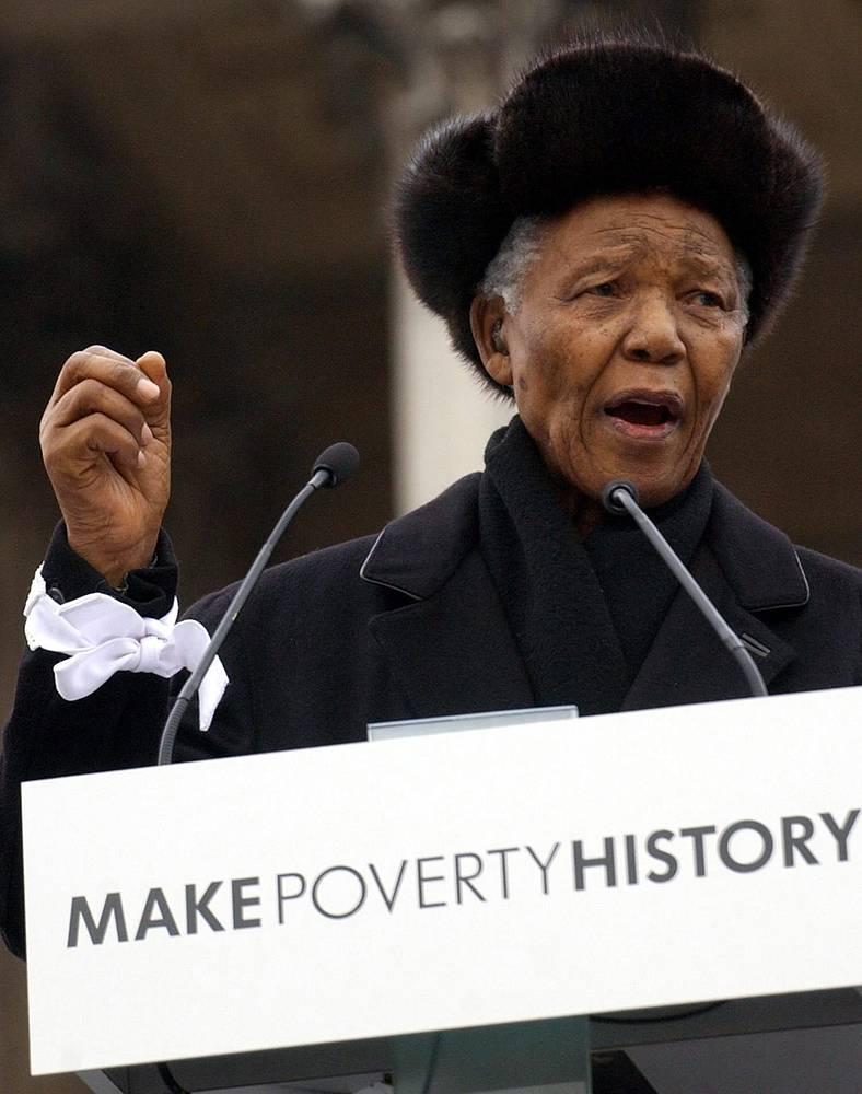 Выступление Нельсона Манделы в Йоханнесбурге, 2005 г.
