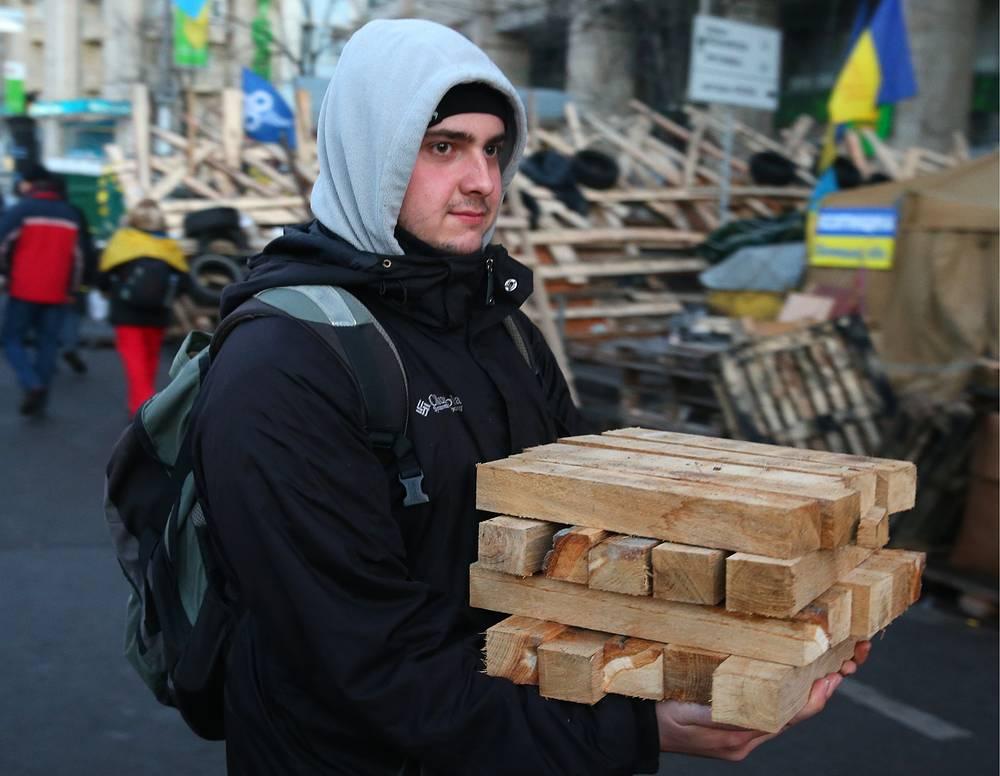 Сторонники евроинтеграции Украины на площади Независимости