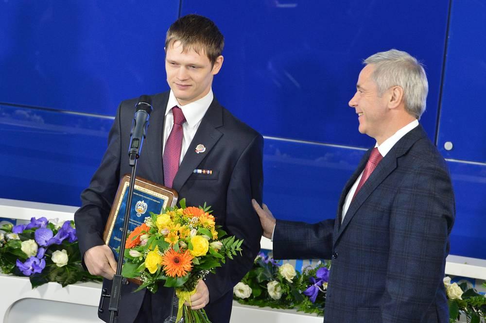 Трехкратный чемпион Паралимпиады в Лондоне в беге Евгений Швецов