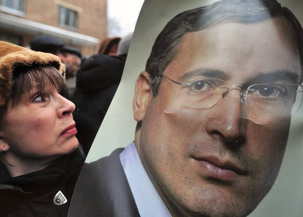 Декабрь 2010. Митинг в поддержку Ходорковского у здания Хамовнического суда.