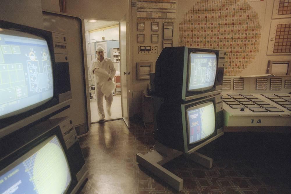 Блочный щит управления 1-ым блоком ЛАЭС имени В.И. Ленина.