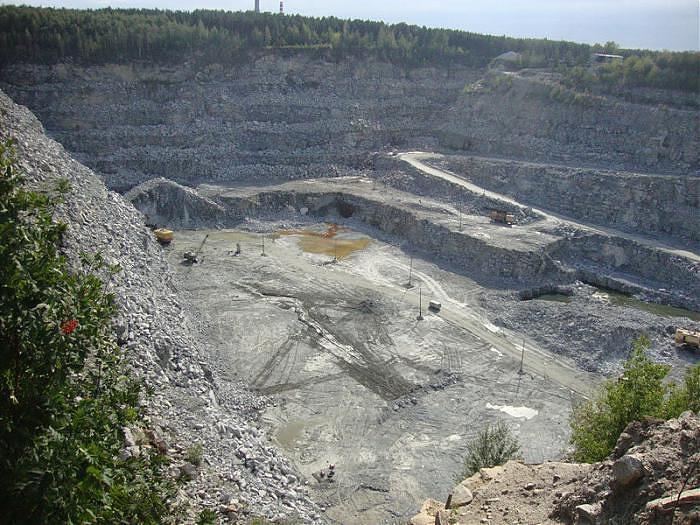Шарташский гранитный карьер в Екатеринбурге