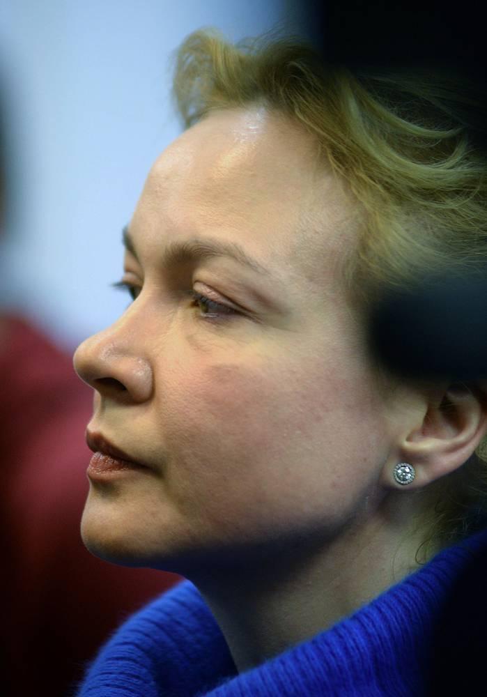 9 января 2014 года. Бывший шеф-редактор новостного сайта URA.RU Аксана Панова во время оглашения приговора в Ленинском районном суде