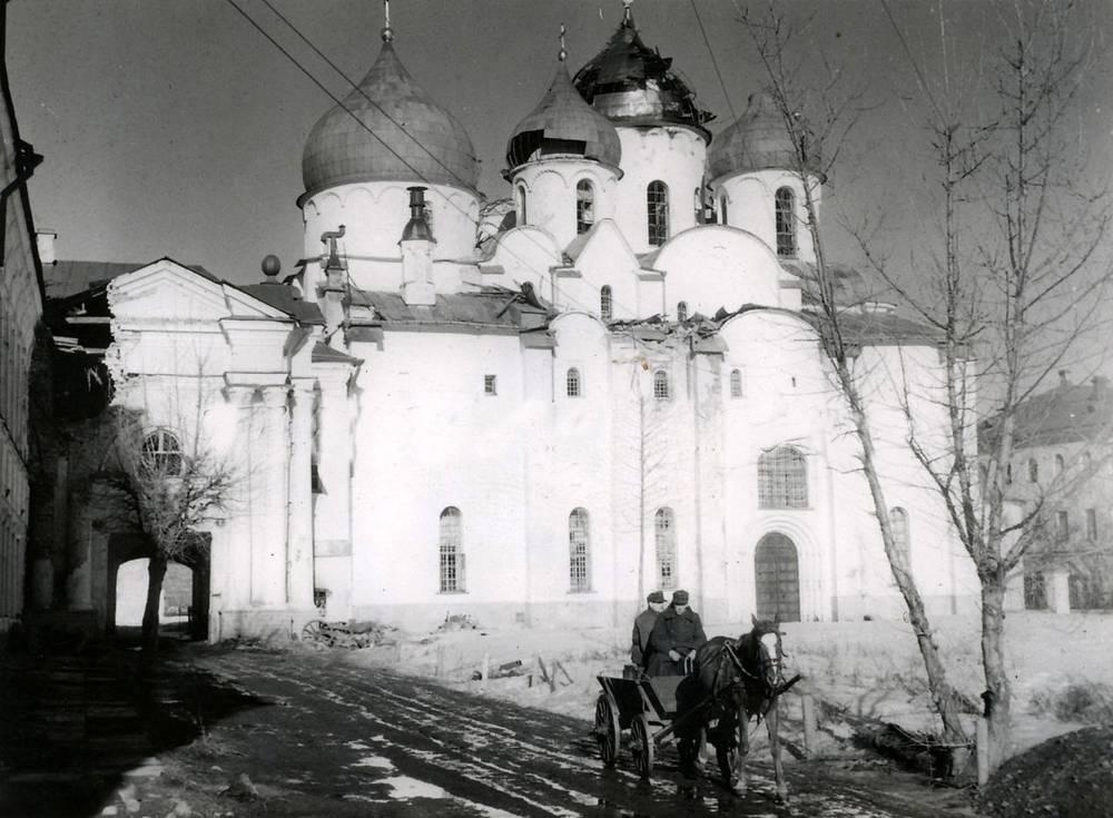 Собор Святой Софии в Новгороде, март 1943 года