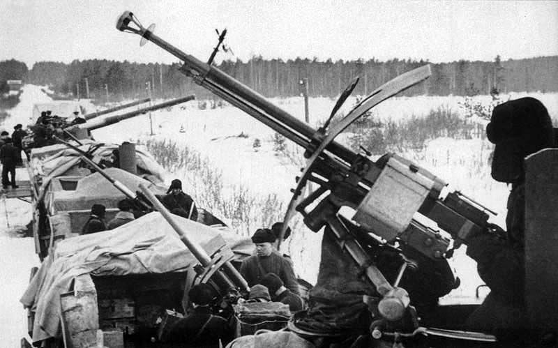 Пулемет ДШК на бронепоезде, 1941 год
