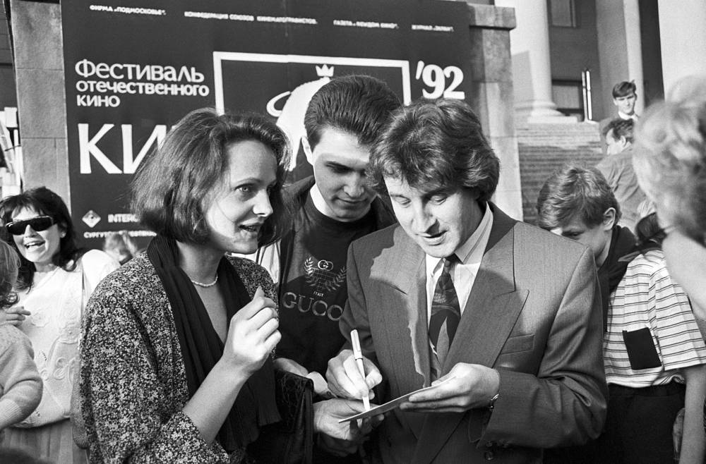 "Леонид Ярмольник на кинофестивале ""Кинотавр"", 1992"