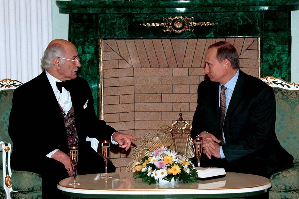 Владимир Зельдин и Владимир Путин, 2000 год
