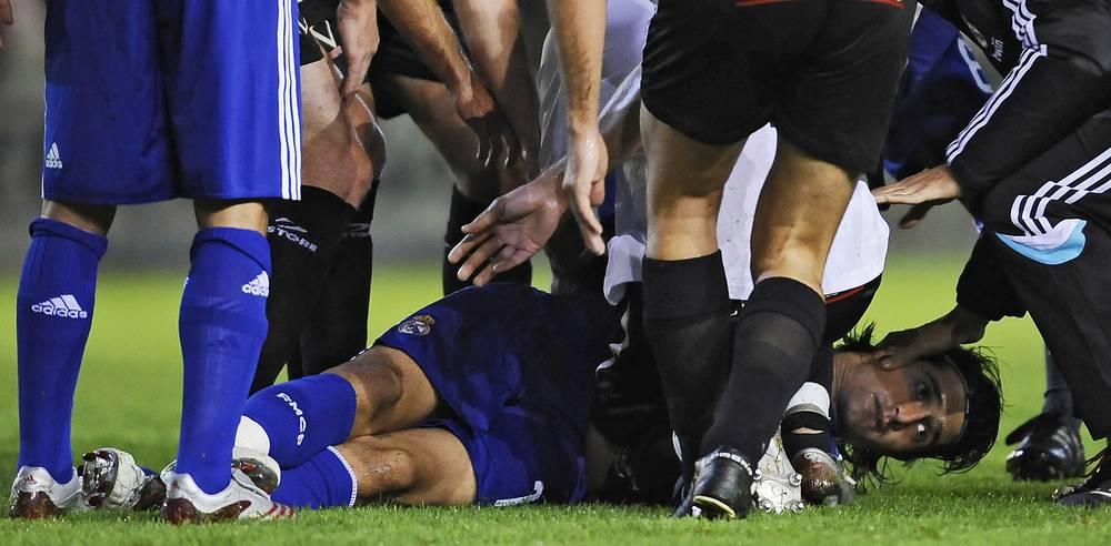 Рубен де ла Ред теряет сознание во время матча из-за сердечного приступа, 2008 год