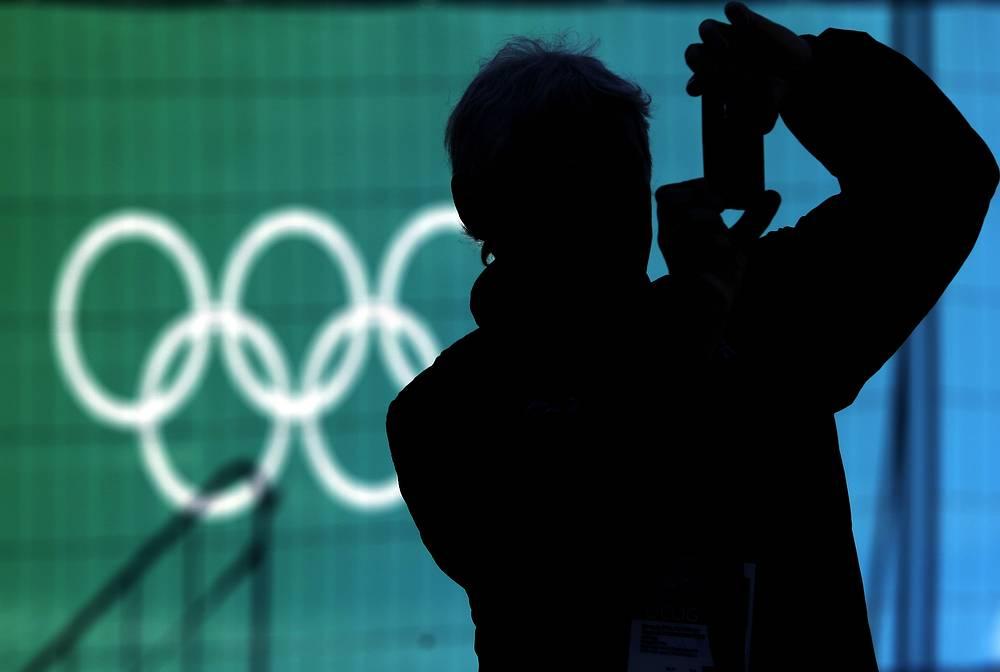 Болельщик в Олимпийском парке