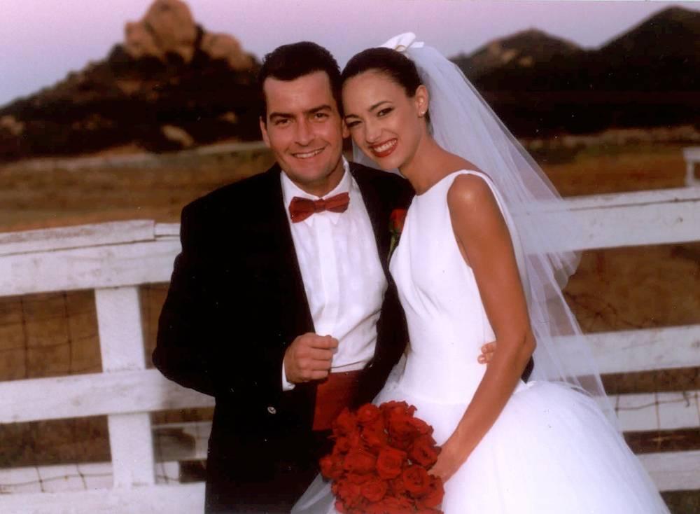 Первая свадьба Чарли Шина. С Донной Пил. 1995 год