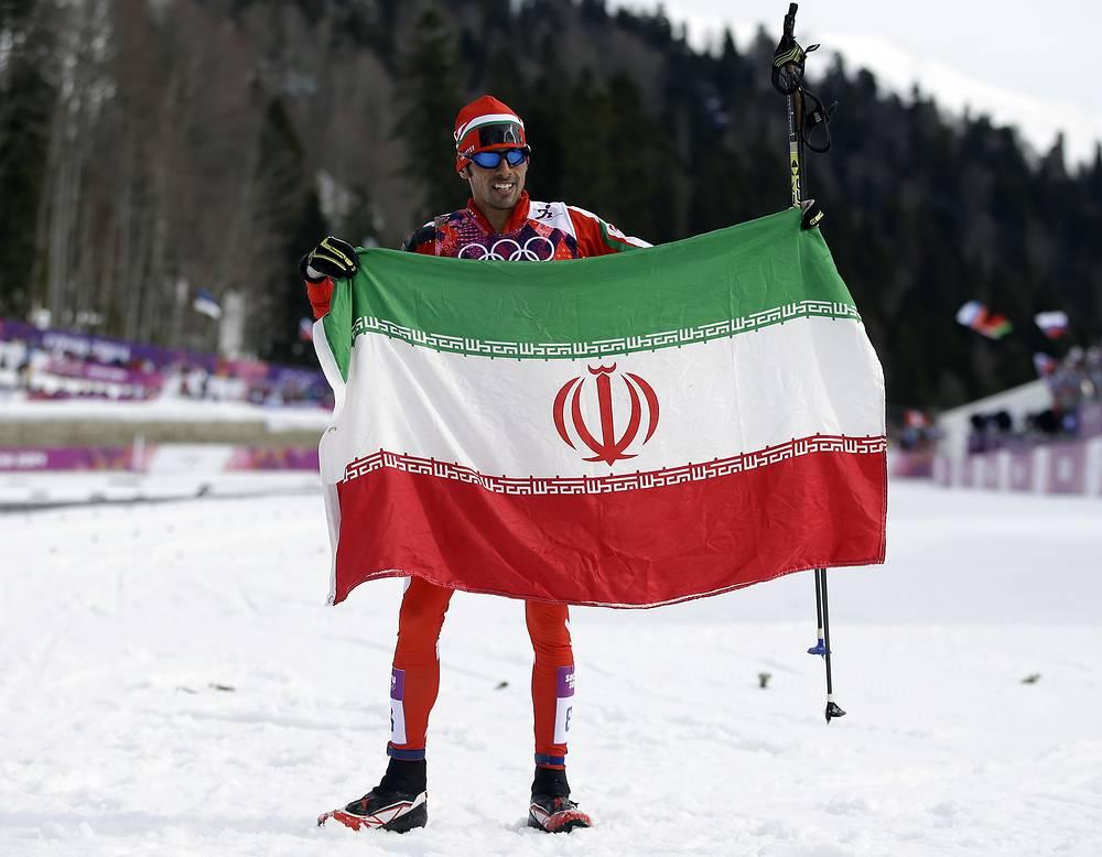 Сборная Ирана на Олимпиаде в Сочи представлена пятью спортсменами в двух видах спорта. Это самая большая олимпийская команда от этой страны за всю историю ее участия в зимних Играх с 1956 года. На фото: многократный чемпион Ирана, лыжник Сейед Саттар Сейд