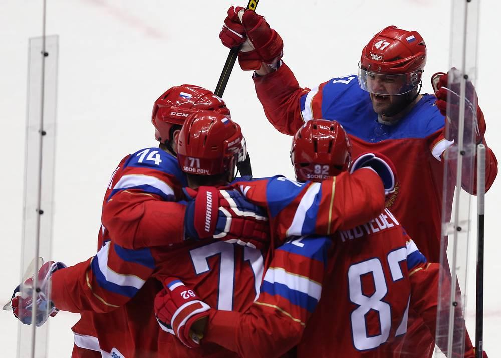 Российские хоккеисты переиграли в квалификационном раунде команду Норвегии со счетом 4:0