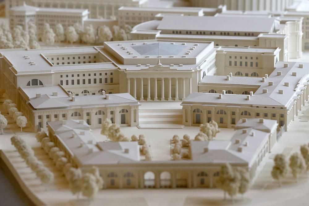 Фрагмент проекта  комплекса зданий для Верховного Суда.