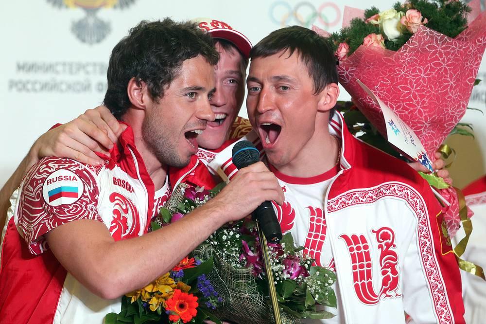 Илья Черноусов, Никита Крюков и Александр Легков (слева направо)