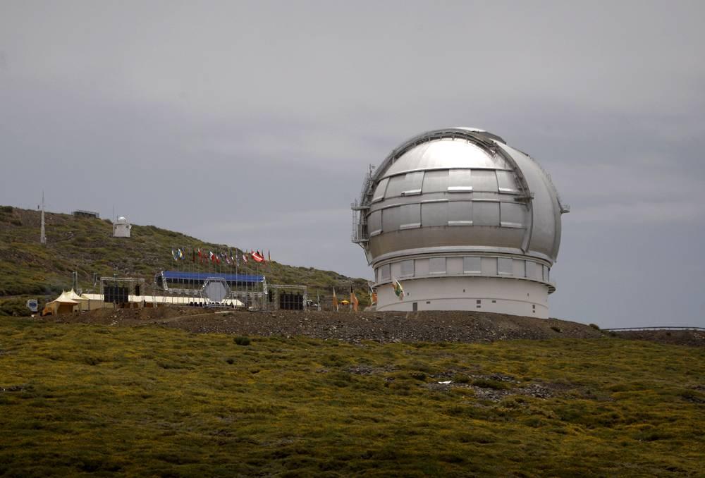 Оптический телескоп Gran Telescopio Canarias на острове Ла-Пальма Канарского архипега